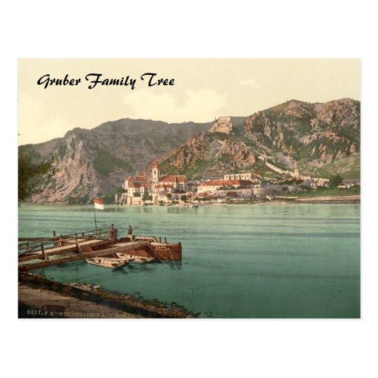 Dürnstein, Austria Family Tree Postcard