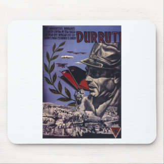 Durruti spanish civil war original poster 1936 FAI Mouse Mat