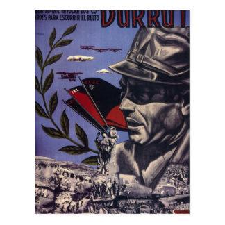 Durruti. True Anarchists are_Propaganda Poster Postcard