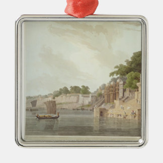 Dusasumade Gaut, at Benares on the River Ganges, f Christmas Ornament
