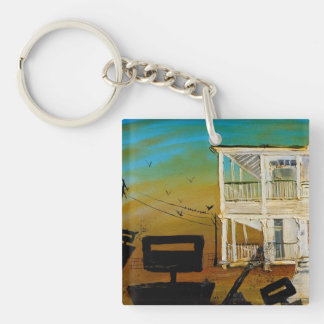Dusk and Guns Key Ring