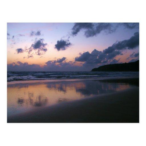 Dusk At Karon Beach Postcards