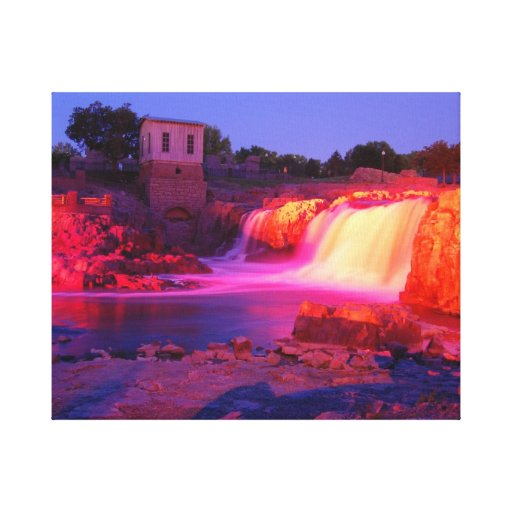 Dusk at Sioux Falls Gallery Wrapped Canvas