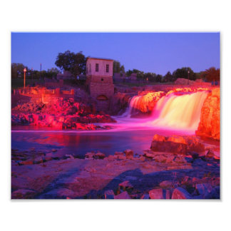 Dusk at Sioux Falls Photographic Print