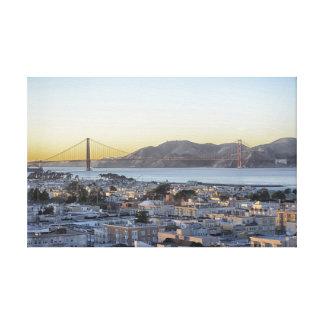 Dusk at the Golden Gate Bridge Canvas Prints