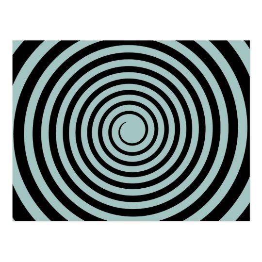 Dusk Blue & Black Spiral Customised Template Postcard
