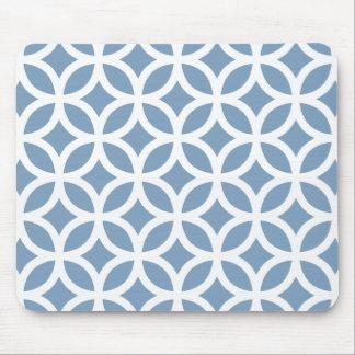 Dusk Blue Geometric Mouse Mat