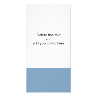 Dusk Blue High End Solid Color Photo Card