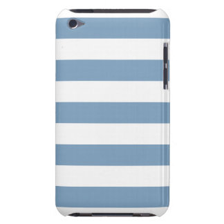 Dusk Blue Stripes Pattern iPod Case-Mate Case