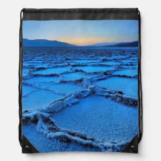 dusk, Death Valley, California Drawstring Bag