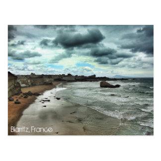 """""""Dusk descends on Biarritz"""" Postcard"""