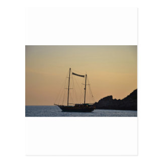 Dusk In Ibiza Postcard