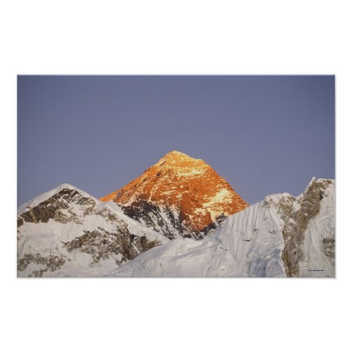 Dusk in Mount Everest, Nepal Poster