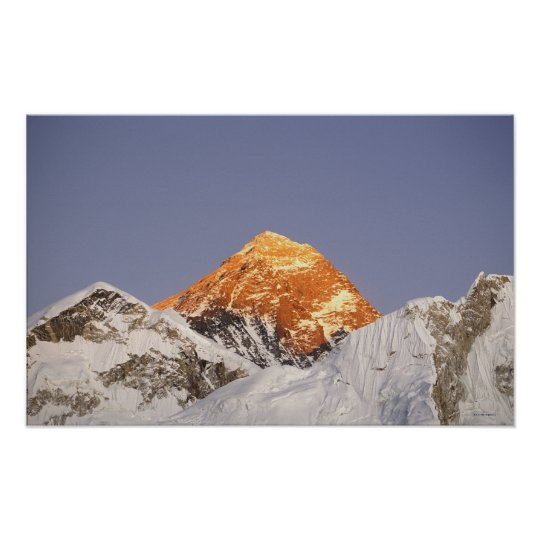 Dusk in Mount Everest, Nepal Poster