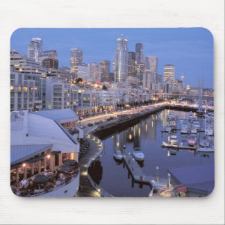 Dusk on Bell Harbor in Seattle, Washington. Mouse Pads