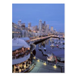Dusk on Bell Harbour in Seattle, Washington. Postcard