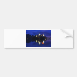 Dusk over Lake Bled Bumper Sticker