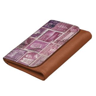 Dusk Pink Purple Wallet, Mail Art Purse Wallet