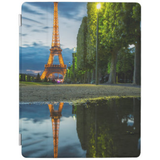 Dusk reflections below the Eiffel Tower iPad Cover