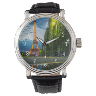 Dusk reflections below the Eiffel Tower Watch