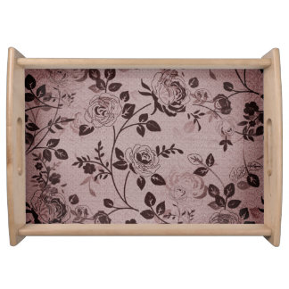 Dusk_Retro_Floral(c) Faded+Raw-Silk_Design Serving Tray