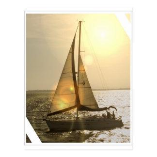Dusk Sailing Postcard