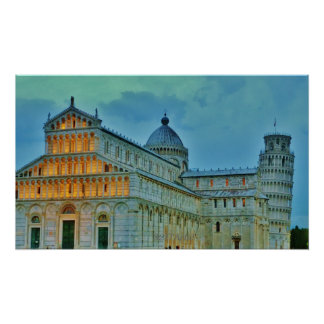Dusk Settles upon the Piazza dei Miracoli, Poster