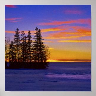 Dusk Sunset_ Poster
