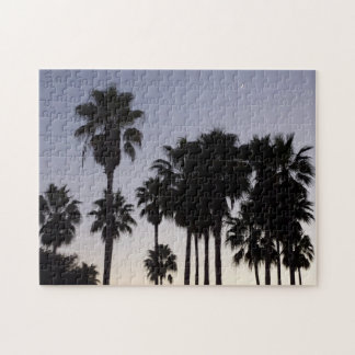 Dusk with Palm Trees Tropical Scene Jigsaw Puzzle