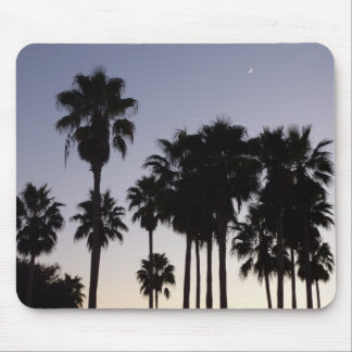 Dusk with Palm Trees Tropical Scene Mouse Mat