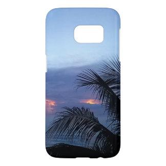 Dusky Blue Sunrise with Palm Tree