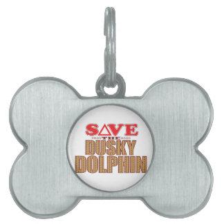 Dusky Dolphin Save Pet Tag