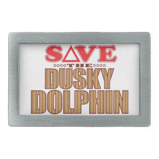 Dusky Dolphin Save Rectangular Belt Buckle