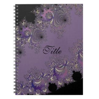 Dusky Lavender Fractal Home Decor Spiral Note Book
