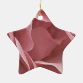 DUSKY PALE PINK ROSE Ceramic Star Decoration