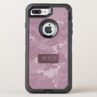 Dusky Pink Camo Otterbox 3D Monogram OtterBox Defender iPhone 8 Plus/7 Plus Case