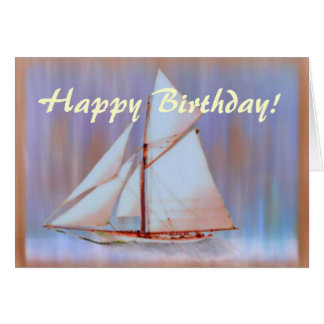 Dusky Sails birthday card