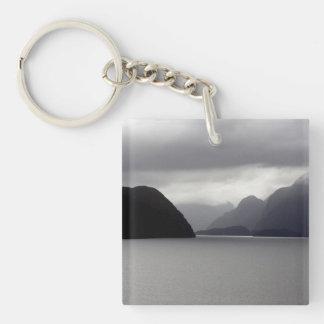 Dusky Sounds, New Zealand Single-Sided Square Acrylic Key Ring