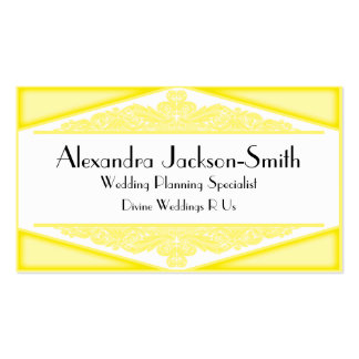 Dusky Yellow Vintage, wedding industry business ca Business Cards