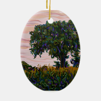 Dusky Yielding FilaTree Ceramic Oval Decoration