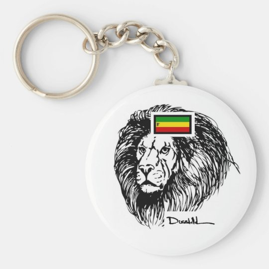 Dusstilldaan rasta lion key chain