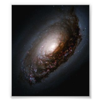 Dust Band Around the Black Eye Galaxy Nucleus Photo
