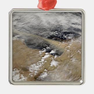 Dust blows off the coast of Libya Christmas Ornament