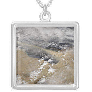 Dust blows off the coast of Libya Silver Plated Necklace