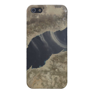 Dust plumes blow off the coast of Saudi Arabia iPhone 5 Case