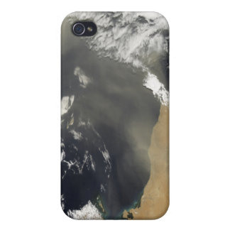 Dust plumes blowing off the north African coast iPhone 4 Case