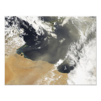 Dust plumes blowing off the north African coast Photo Print