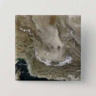 Dust storm in Iran 15 Cm Square Badge