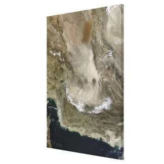 Dust storm in Iran Canvas Print
