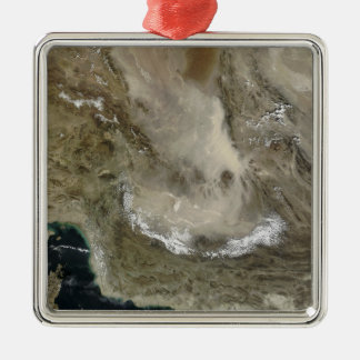 Dust storm in Iran Christmas Ornament